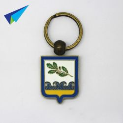 Durable to use metal keychain hs code wtih differnt logo